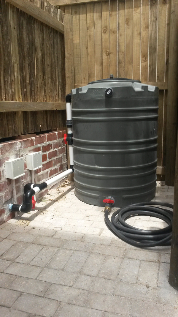 Pool backwash tank Berram